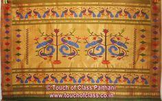 Touch of Class Paithani: Geometry (Akruti) Paithani Saree