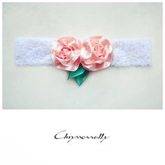 - Chryssomally baby girl white lace headband with handmade pastel pink satin roses, crystals and emerald green leaves Satin Roses, Pink Satin, Lace Headbands, Fashion Art, Fashion Design, Pastel Pink, Green Leaves, Emerald Green, White Lace
