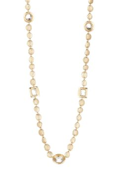 14K Gold Plated Goddess CZ Stone Necklace by Melinda Maria on @nordstrom_rack