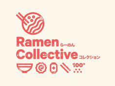 Ramen Marks designed by Drew Rios. Connect with them on Dribbble; Japanese Branding, Japanese Logo, Japanese Graphic Design, Restaurant Branding, Logo Branding, Corporate Branding, Brand Identity Design, Branding Design, Type Logo