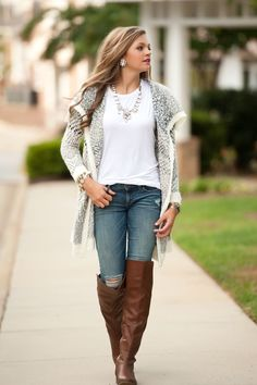 basic white shirt and jeans with accessories