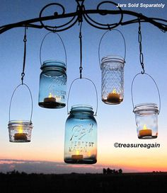 Hanging Lanterns 20 DIY Mason Jar Hangers Outdoor Wedding Mason Jar Candle Holders DIY , No Jars op Etsy, $45.09