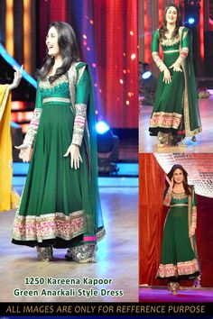 Exclusive Green Anarkali of Kareena Kapoor. I want this!!