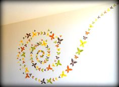 Set of 125  - 3D Handmade Butterfly Wall Decor/Art Wall Decals/Room Decor Housewares-Free Shipping With in US(United States)