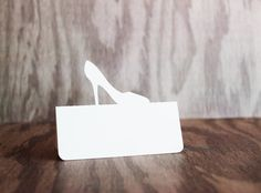 Place Cards High Heel Shoe Set of 50 by tiffzippy on Etsy, $16.50 #bachelorette #bridal