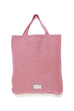 Red Gingham Tote