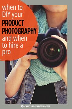 When to DIY your craft photography and when to hire a professional photographer. There are times when it makes sense to do your own product photography and times when you need the skill of a pro to get the quality required for the situation. Here's how to decide whether you should take your own product photos or work with a pro. #productphotography #craftbusiness #craftprofessional Selling Crafts Online, Craft Online, Craft Business, Creative Business, Business Ideas, Product Photography, Photography Tips, Craft Shop, Professional Photography