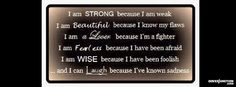 I Am Strong Because Facebook Cover