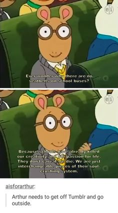 Arthur goes straight to the bottom of an empty glass.