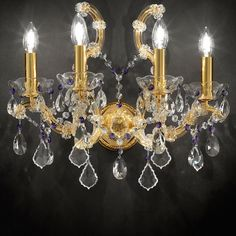Lighting - Maria Teresa Gold Plated Wall Light by Masiero | Masiero Wall Lights at Pavilion Broadway