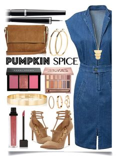 """Pumpkin Spice Style"" by ittie-kittie on Polyvore featuring Sam Edelman, River Island, Pieces, Urban Decay, Jouer, Chanel, Bobbi Brown Cosmetics, Jules Smith, H&M and Gorjana"