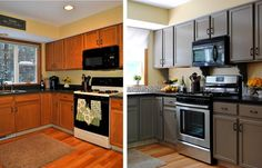 15. BEFORE: Almost While the look of this kitchen isn't exactly the best, one has to admit that it has the right, contemporary layout. 16. AFTER: New Coat Of Paint That's why these homeowners were able to use a limited budget of $700 to give it a fresh coat of paint and an entirely new …