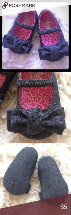Super cute Baby Jean Shoes! Childrens place size 0-3 mos baby shoes. Only worn once and outgrew.  Smoke free home. Like new! Children's Place Shoes Baby & Walker