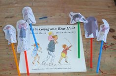 We're going on a bear hunt stick puppets
