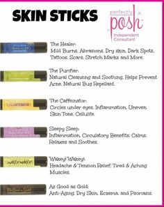 Perfectly Posh sticks w all natural ingredients for instant healing. Just pop it in your purse!!   https://www.perfectlyposh.com/franchesckakephart
