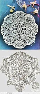 Home Decor Crochet Patterns Part 94 - Beautiful Crochet Patterns and Knitting Patterns Filet Crochet, Col Crochet, Crochet Doily Diagram, Crochet Dollies, Crochet Doily Patterns, Crochet Art, Thread Crochet, Crochet Motif, Crochet Designs