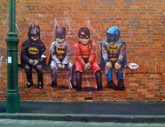 Graffitis urbanos de Batman. Increibles ! - Foro Actualidad, Comic - Vandal