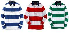 NWT Ralph Lauren Boys Jersey Rubgy Long Sleeve Striped Shirt Green L 14 16 #RalphLauren #DressyEveryday