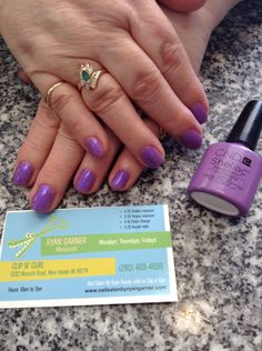CND SHELLAC manicure, Longing Lilac and Additives Periwinkle Twinkle