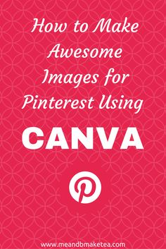 "Do you run a blog, then why not create pinnable images for your content? Perhaps you run a business blog – again, create pinnable images.  Today I'm going to show you how to create a ""pinnable"" image using an online design tool, Canva. This isn't a sponso"