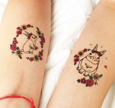 Sorte, amor, esperança e prosperidade. <3 Tatuagem Temporária COELHO. www.tattooux.com #tatuagemfeminina #tatuagensdelicadas