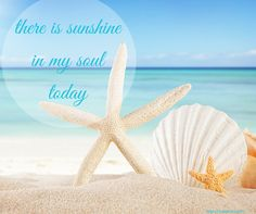 Beach Saying:  there is sunshine in my soul today