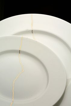 "Reiko Kaneko ""Crack of Thunder"" plate, $24.50 Wedding china! Yes please"