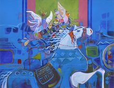 Artist: Shan Amrohvi Artwork Code: AC-EX1-022 Medium: Acrylics on Canvas Size: 24 x 30 inch