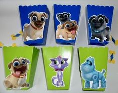 Puppy Dog Pals Party favors/ goodie bags/ Popcorn Candy Box SET OF 10 Puppy Birthday Parties, Twin Birthday, Puppy Party, Birthday Party Decorations, Birthday Ideas, Garden Party Favors, Bingo, Kairo, Party Bags