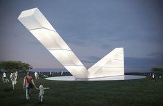 Monumento que será construído no Eixo Monumental em Brasília.