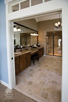 Transom from master bedroom to master bathroom