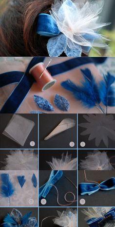 DIY Feather-Light Hair Flowers