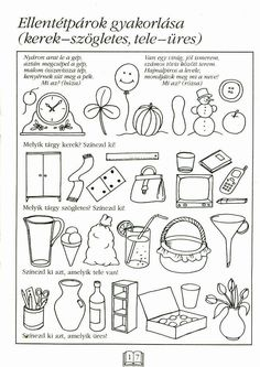 Albumarchívum Pre K Worksheets, Preschool Worksheets, Autumn Activities For Kids, Kids Learning Activities, Learning Methods, Kindergarten Math, Album, Teaching, Children