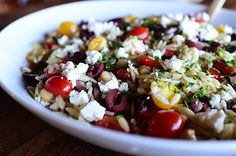 Mediterranean Orzo Salad by Ree Drummond / The Pioneer Woman / Make with cauli-rice?