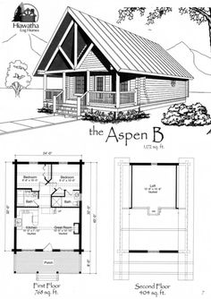 small cabin plan with loft home sweet home pinterest cabin