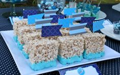 Rice Krispie treats ready to party in blue! #BRITAXStyle
