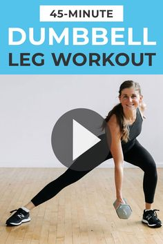 The workout that left me sore for THREE DAYS after filming -- this 45-Minute LEG WORKOUT! ____________________________ 1️⃣ CIRCUIT 1: Squats + Lateral Lunges 2️⃣ CIRCUIT 2: Deadlifts 3️⃣ CIRCUIT 3: Banded Squats 4️⃣ CIRCUIT 4: Lunges 5️⃣ CIRCUIT 5: Sumo Squats