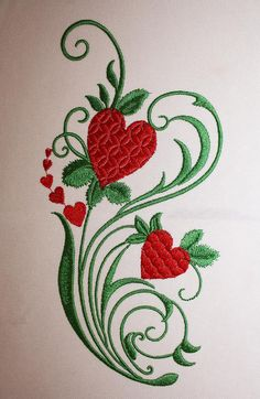 How To Choose An Embroidery Machine - Embroidery Patterns Embroidery Hearts, Crewel Embroidery Kits, Machine Embroidery Projects, Free Machine Embroidery Designs, Hand Embroidery Patterns, Ribbon Embroidery, Brazilian Embroidery, Helmet, Heart Flower