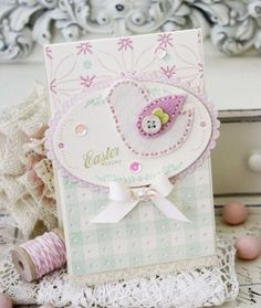 Easter Wishes Card by Melissa Phillips for Papertrey Ink (March 2015)