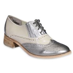 Silver oxfords, people....SILVER!