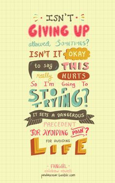 Fangirl quote, by rainbow rowell