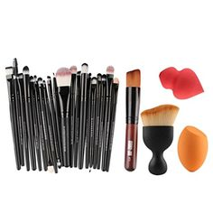 HP95TM 5PCS Cosmetic Makeup Brush Sponge Foundation Makeup Brush Powder Puff Brush *** More info could be found at the image url.