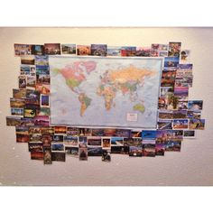 Postcard Collection Display idea!