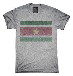 Retro Vintage Suriname Flag T-Shirts, Hoodies, Tank Tops