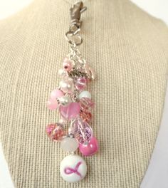 10 Discount Purse jewelry dangle  #breast #cancer by DanglesbyDesign, $10.80
