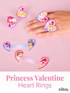 Princess Valentine Heart Rings