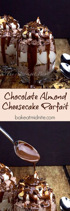 Decadent chocolate cheesecake and toasted almonds flavor this easy no-bake…