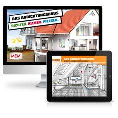 MEM-Haus - Erstellen einer gekapselten Flash-Applikation für Retail-Partner von MEM Produkten über deren Websites. Konzeption und Entwicklung des interaktiven Ratgeber für sämtliche Probleme zu den Themen Dichten, Kleben, Pflegen.