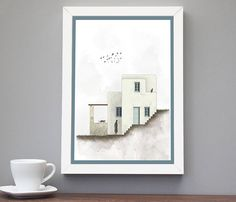 Minimalist art print,greece, greek islands, Cycladic houses, Home Decor, Wall prints, Posters, Decorative art print, INSTANT DOWNLOAD. Leather And Lace, Real Leather, Ancient Goddesses, Gifts For Your Girlfriend, Bare Foot Sandals, Greek Islands, Minimalist Art, Art Decor, Home Decor