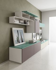 Sectional laminate storage wall DR•ØNE by @derosso